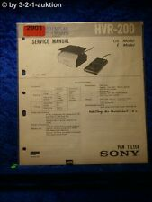 Sony Service Manual HVR 200 Pan Tilter (#2901)