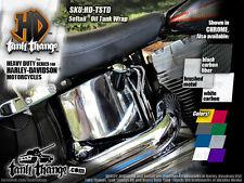 Harley-Davidson Softail Oil Tank Graphic Wrap, Chrome Carbon Colors - Fatboy etc