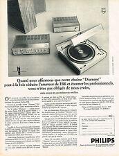 PUBLICITE  1970   PHILIPS   chaine hi-fi DIAMANT