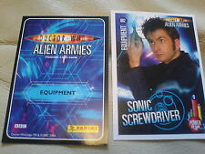 PANINI dr who ALIEN ARMIES COLLECTION  GLITTER / FOIL CARDS