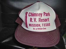Chimney Park RV Resort Burgundy Hat Baseball Cap
