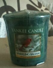YANKEE CANDLE CHRISTMAS SPARKLING BALSAM US DEERFIELD VOTIVE RARE RETIRED