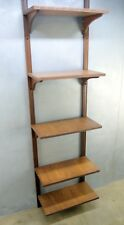Vintage Mid Century Danish Modern SIX Shelf Wall MOUNT Unit Bookcase Walnut PLY