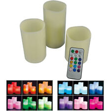 "Color Changing Flameless Flickering LED Candles with Remote Control 3"" 4.5"" 6"""
