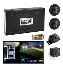 HD Front+Rear+Side View Car Parking Backup Camera Recorder DVR Vibration Alarm
