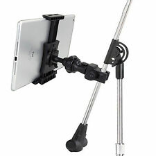 Microphone and Tablet Holder iPad Mic Stand Clamp Mount Music Audition Universal