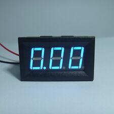 5pcs Digital Voltmeter Battery Voltage Gauge Tester DC 24V Car Blue LED 3 Digits