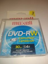 Maxell Dvd-rw Camcorder 3 Pack Sealed