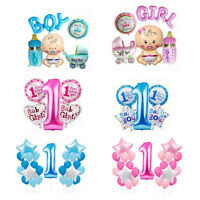 First 1st Birthday Number 1 Boy Girl Filled Balloons Baby Party Decoration UK