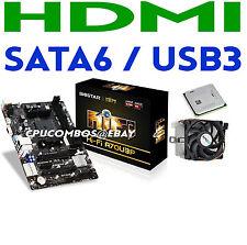 HTPC COMBO AMD A4-4000 DUAL CORE 3.2GHz CPU/APU BIOSTAR HDMI Motherboard