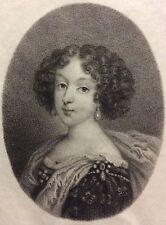 Anne Marie Louise d'Orléans Reine d'Espagne Jean Petitot Ceroni 1868 Miniature