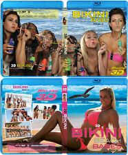 2 3D Blu-ray Movies! 3D Bikini Beach Babes Issue 3 & 4 3D Bluray lot collection!
