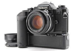 Near MINT/ NIKON FE Black + Ai 50mm F1.4 + MD12 SLR Film Camera from Japan #1433
