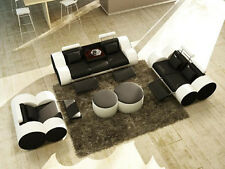 Ledersofa Sofagarnitur 3+2+1 Sitzer Set Garnitur Polstersofa Couch Designersofa