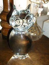 Signed lucio Zanetti Murano Glass owl sculpture