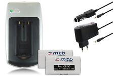 Chargeur+2x Batterie CR-V3 CRV3 pour Samsung Digimax 370, 401, 420, 430