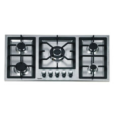 90cm Gas Cooktop 5 Burners Built In Stainless Steel for Kitchen