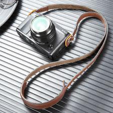 AYdgcam Genuine Leather Camera Neck Shoulder Strap For SLR Leica Fuji Lumix Sony