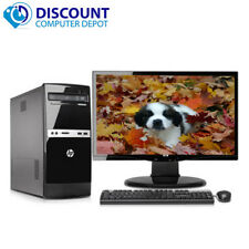 """Fast HP 500B Tower Computer PC C2D 4GB 250GB Windows 10 Home 17"""" WiFi Key Mouse"""