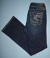 Silver Denim Women's Size 30 x 32 Suki Surplus Bootcut Jeans