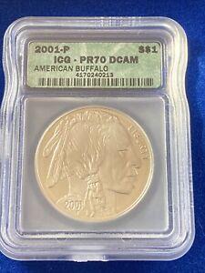 2001-P Silver American Buffalo ICG PR70DCAM