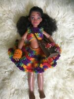 OOAK Flower Fairy Moana Disney Doll Handmade Crocheted Top Skirt