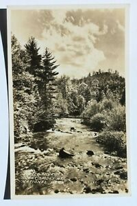 Old RPPC postcard LITTLE RIVER, GREAT SMOKY MOUNTAIN NATIONAL PARK, 1931