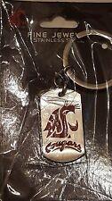 WASHINGTON STATE COUGARS WSU * Stainless Steel Keychain w/School Logo * NCAA New