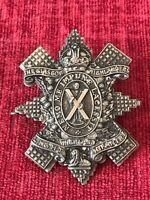 WW1 Glasgow Highlanders Highland Light Infantry White Metal Cap Badge KC 28/3