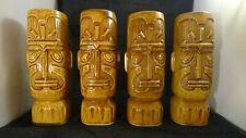 4 Vintage KON TIKI GOD Otagiri OMC Mugs with stamps. Mint.