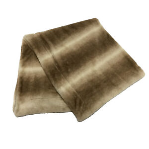 "Aspen Home Rugged Refined Faux Fur Soft Throw Blanket 50"" x 60"" Light Brown"