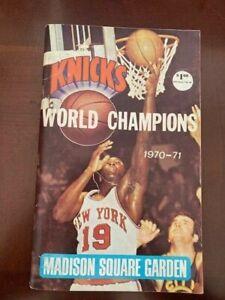 NBA New York Knicks 1970-71 Press Guide  Yearbook