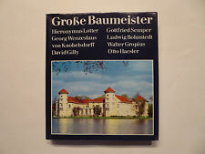 Buch, Große Baumeister, Bauakademie der DDR, Städtebau und Architektur, 1987