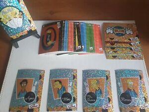 The Simpsons Artbox 2000 TCG Complete Set 72/72 + 12/12 Rare Prism Cards BNIP