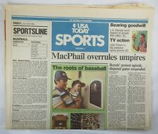 USA TODAY July 29 1983 Newspaper THE PINE TAR GAME Decision Sports Section
