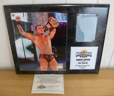 WWE - Randy Orton - Wrestlemania 24 - official signed plaque
