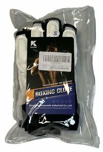 Boxing Gloves Leather Punching Bag Training Grappling Kickboxing Sparring Size S