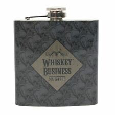 Whiskey Business Vintage Tattoo Style Gift Boxed Steel Hip Flask