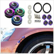 4 pcs Chrome Quick Release Fasteners For Car Bumpers Fender Trunk Hatch Lids Kit