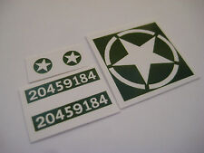 Dinky 669 U.S Military Jeep ( Green ) Stickers - B2G1F