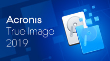 Acronis True Image 2019,protect your data,backup ,clone &  RESTORE CD