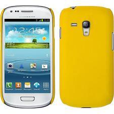 Custodia Rigida Samsung Galaxy S3 Mini - gommata giallo + pellicola protettiva
