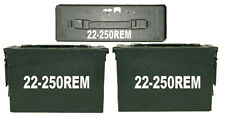 "22-250 REM Ammo Box(decals) Two 7""x1.5 One 4""x0.75"" No Box Included"