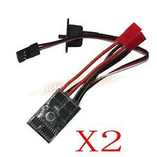 2x 10A RC Brushed ESC Motor Speed Controller 1/16 18 24 Car Boat Tank w/o Brake