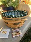 Longaberger Christmas Collection Popcorn Basket, Liner, Protector Combo