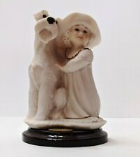 "Giuseppe Armani ""Perfect Match"" Girl With Dog 358F Figurine Florence Italy 1995"