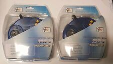 2 NINTENDO 64 N64 BLUE TURBO CONTROLLERS   NEW SEALED