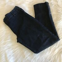 J.Crew Womens Cropped Jeans Sz 6 Dark Wash City Fit Stretch Side Zip/ Zip Ankle