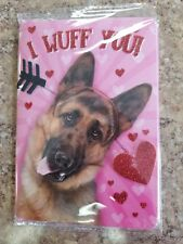 Valentine Card glitter ,German Shepherd NWT