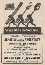 Z2185 Argenteria Wellmer - Posate argentate - Pubblicità d'epoca - Advertising